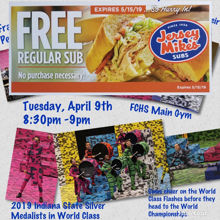 graphic relating to Jersey Mike's Printable Coupon called 100 Free of charge Subs against Jersey Mikes - Franklin Central Large